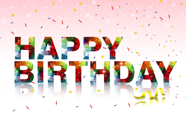 happy birthday text on background free vector in adobe illustrator