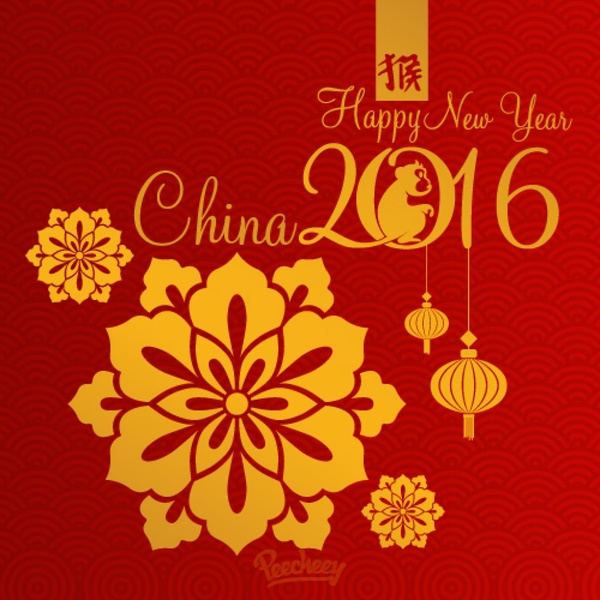 happy chinese new year background free vector 100834kb