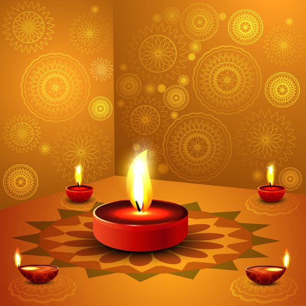 Diwali Wallpaper: Happy Diwali Background Free Vector In Encapsulated