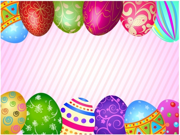 Happy easter eggs frame