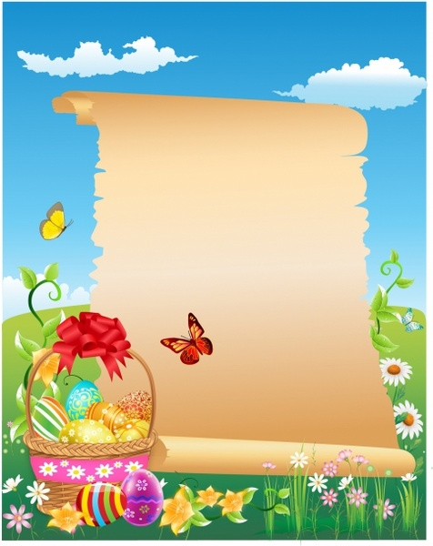 Happy Easter scroll