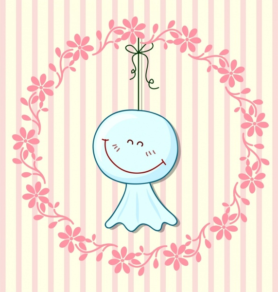 Happy Emoticon Background Weather Forecast Symbol Wreath Decor Free