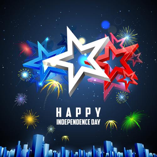 happy independence day design vectors