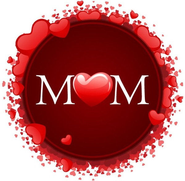 happy mother s day with hearts free vector in encapsulated