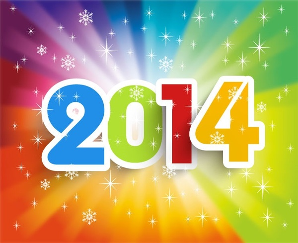 happy new year14 colorful background vector illustration