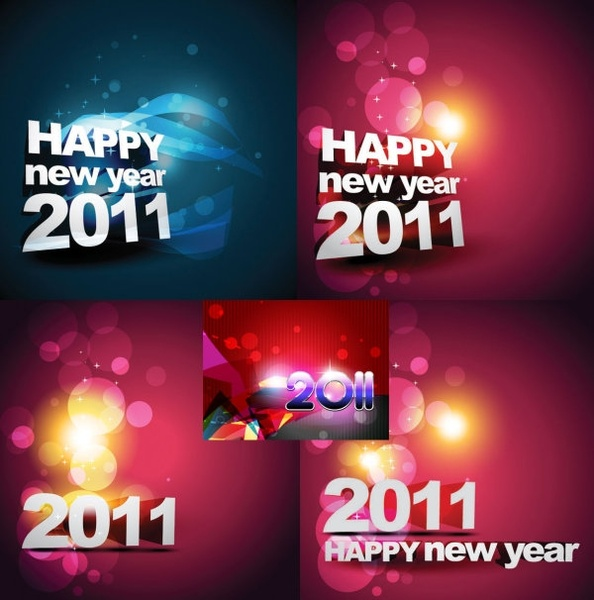 happy new year 2011 background vector