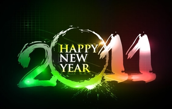 Happy new year 2011 eps Vector part03