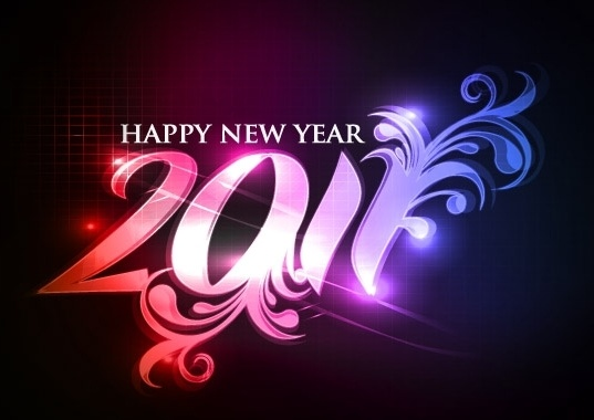 Happy new year 2011 eps Vector part05