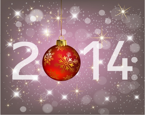 Happy new year 2014 and merry Christmas Free vector in Adobe ...