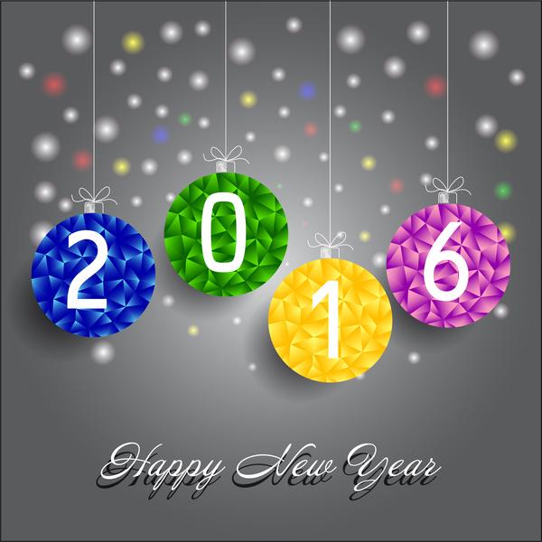 happy new year 2016 free vector in adobe illustrator ai ai