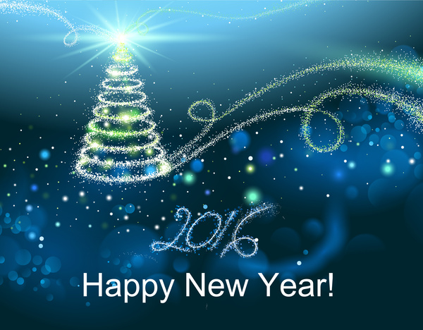 happy new year and merry christmas 2016 background