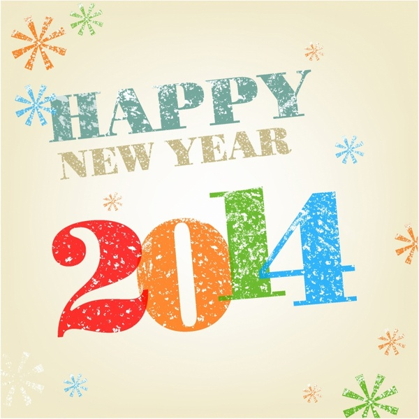 Happy New Year Stamp effect