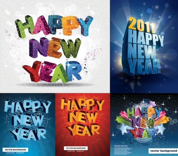 happy new yeardimensional vector