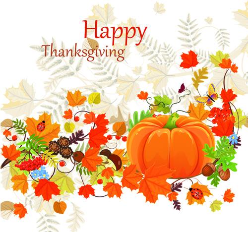 happy thanksgiving background design vector