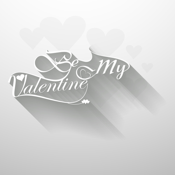happy valentines day heart for lettering text design card vector
