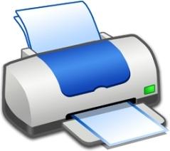 Hardware Printer Blue