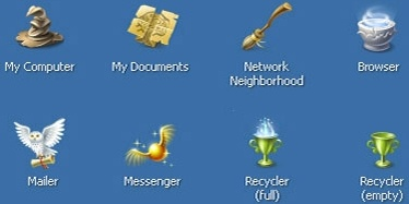 Harry Potter and Windows XP icons pack