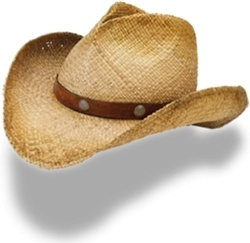 Hat cowboy straw