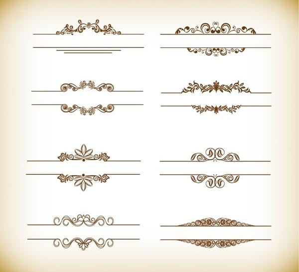 header frame with retro floral elements vector illustration