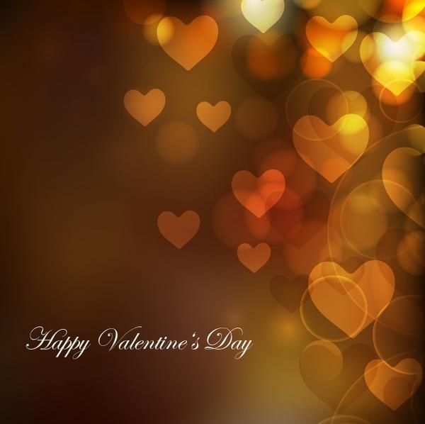 heart bokeh background for valentine day vector illustration