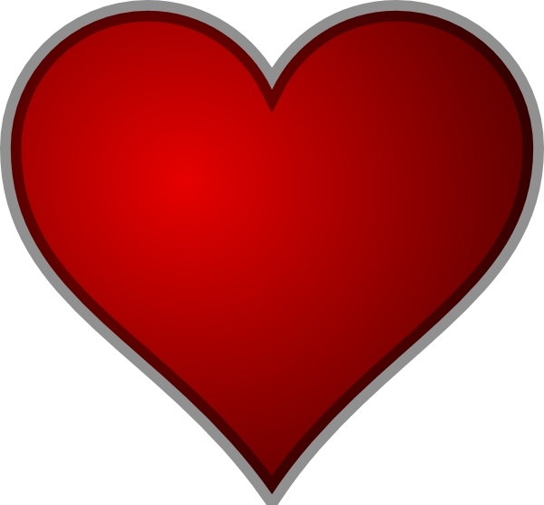Heart clip art Free vector in Open office drawing svg ...