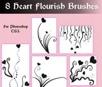 Heart Flourish Brushes for CS3