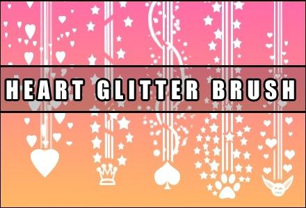 Heart Glitter Brush