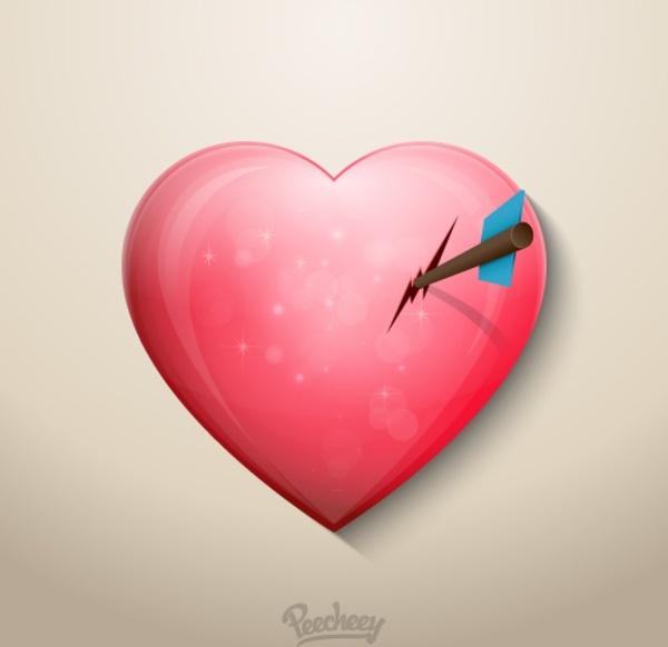 Heart In Love Free Vector In Adobe Illustrator Ai Vector