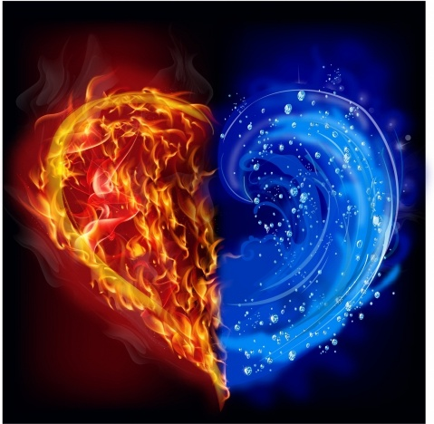 Heart in water and fire