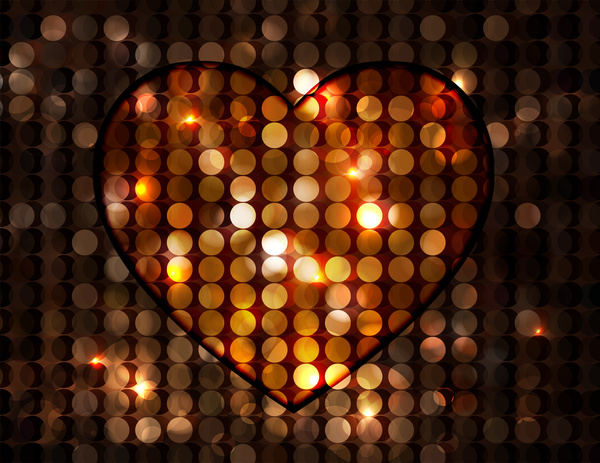 heart template design on bokeh background