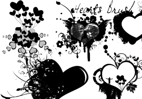 Hearts & Love Brushes