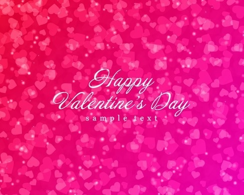 valentine card violet hearts decoration vignette design