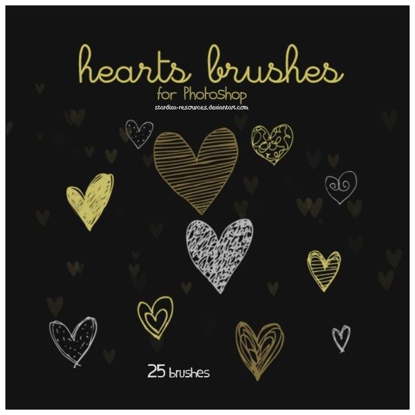 Hearts Brushes II