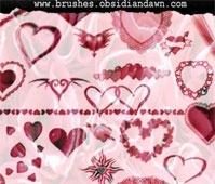 Hearts Photoshop Brushes