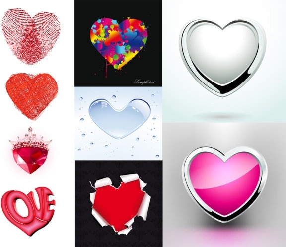 heartshaped element pattern vector