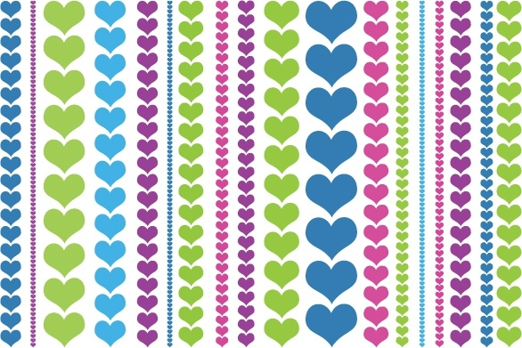heart pattern colorful flat repeating decor