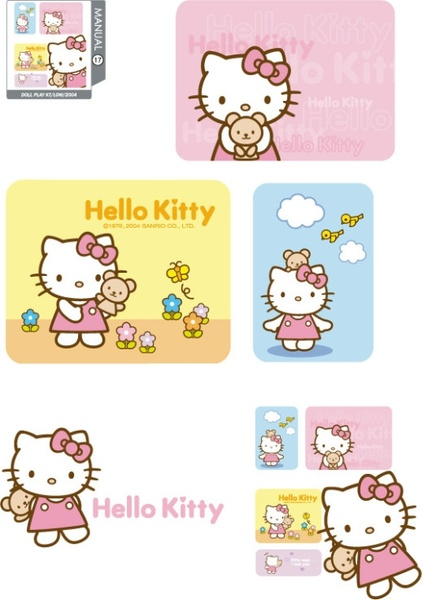 Hello kitty vector log...