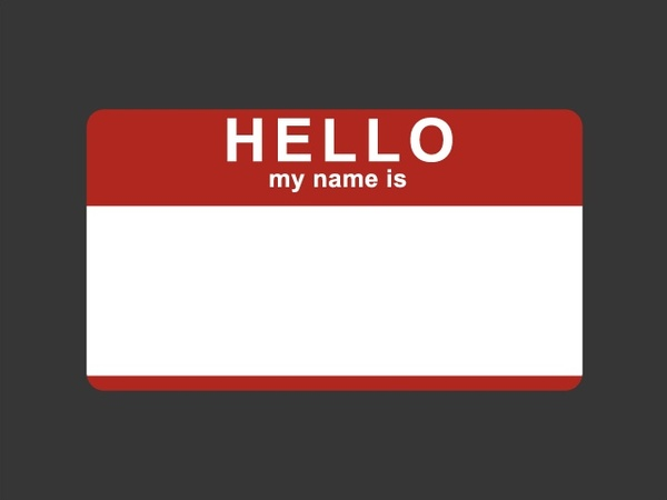 hello my name is sticker free vector in encapsulated postscript eps