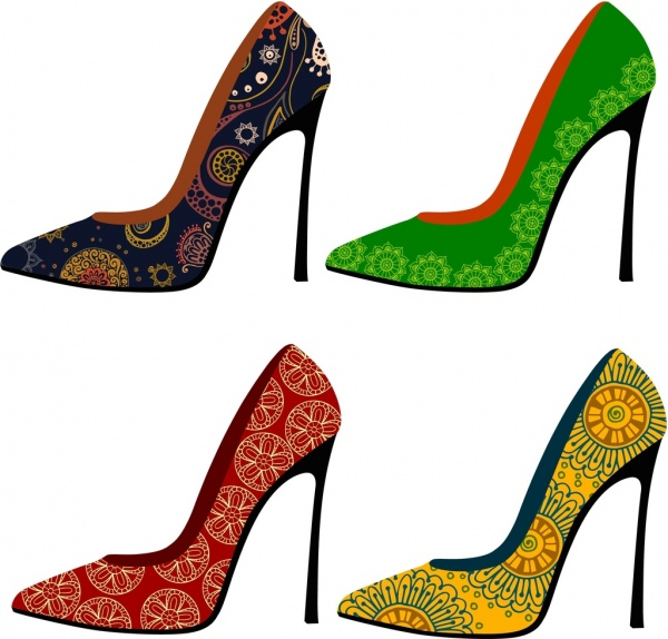Shoes Free Collection High Classical Heel Decoration Style Floral E9H2YDbWIe