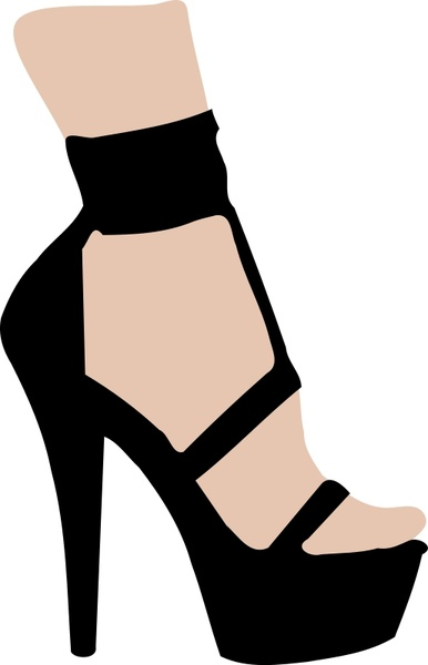 high heel shoe silhouette free vector download (6,472 free vector