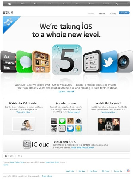 high imitation apple website page psd handmade file