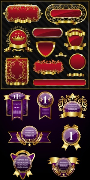 high quality european labels vector