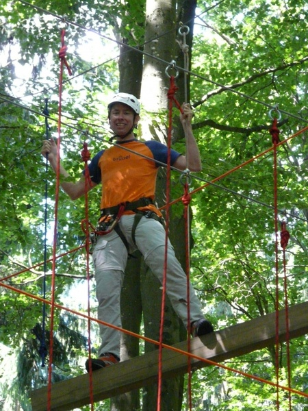 high ropes course man person