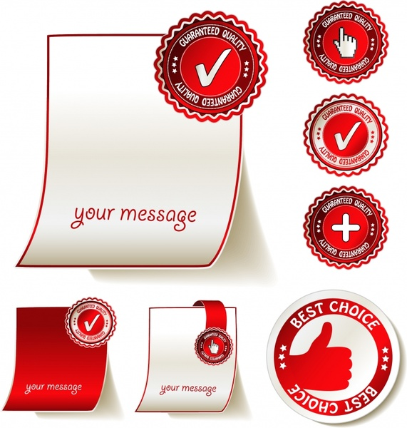 quality stamps templates bright modern circles design