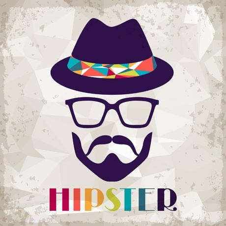 hipster retro background vector