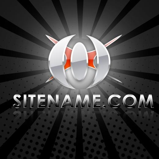Hi-Tech Chrome -Free PSD Logo