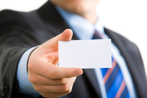 holding a blank business card characters hd picture 2
