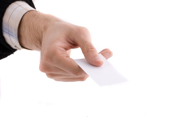holding a blank card hd picture 1