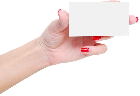 holding a blank card hd picture 4