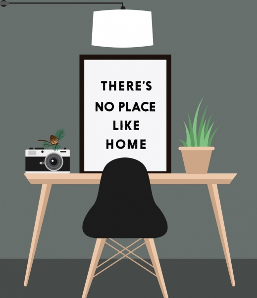 Home Decor Background Interior Icons Free Vector In Adobe
